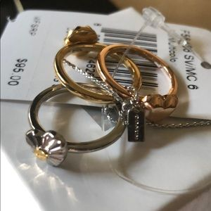 Coach rings set stackable